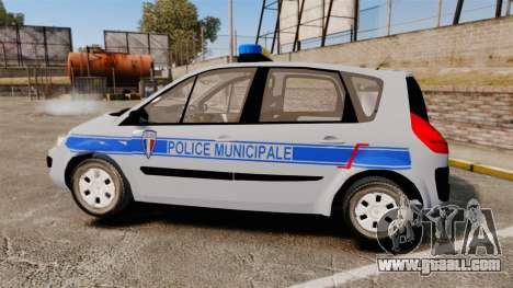 Renault Scenic Police Municipale [ELS] for GTA 4 left view