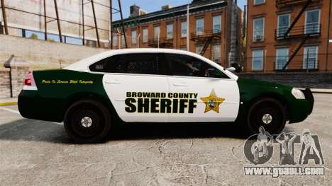 Chevrolet Impala 2010 Broward Sheriff [ELS] for GTA 4 left view
