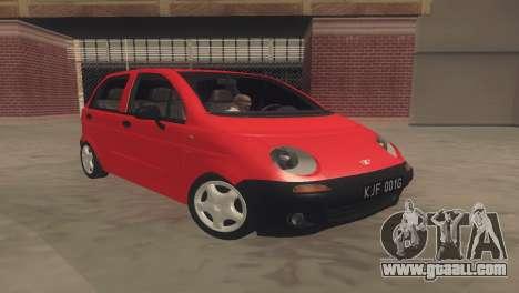 Daewoo Matiz I SE 1998 for GTA San Andreas left view
