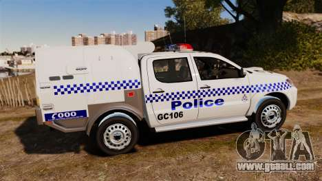 Toyota Hilux Police Western Australia for GTA 4 left view