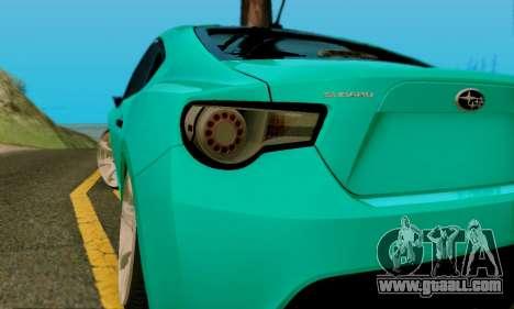 Subaru BRZ for GTA San Andreas side view