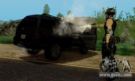 SWAT GIRL for GTA San Andreas seventh screenshot