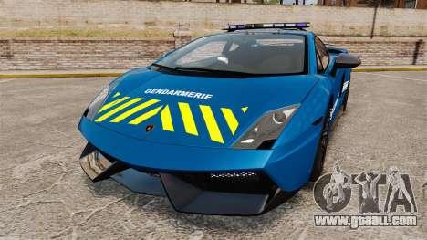 Lamborghini Gallardo Gendarmerie National [ELS] for GTA 4