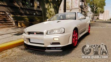 Nissan Skyline GT-R R34 V-Spec II for GTA 4