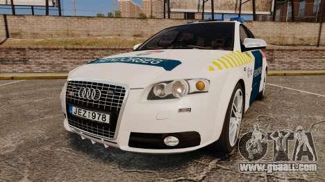 Audi S4 Avant Hungarian Police [ELS] for GTA 4