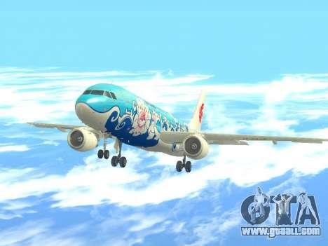 Airbus A320 Air China for GTA San Andreas back view