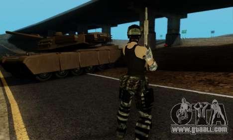 SWAT GIRL for GTA San Andreas sixth screenshot