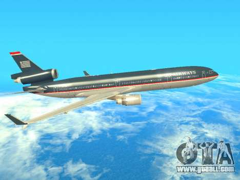 McDonnell Douglas MD-11 US Airways for GTA San Andreas back left view