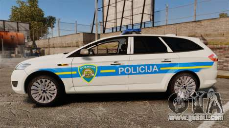 Ford Mondeo Croatian Police [ELS] for GTA 4 left view