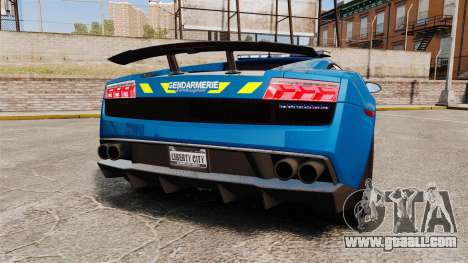 Lamborghini Gallardo Gendarmerie National [ELS] for GTA 4 back left view