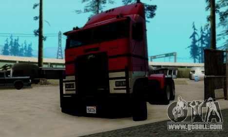 Hauler GTA V for GTA San Andreas back left view