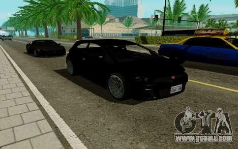 Dinka Blista GTA V for GTA San Andreas back left view