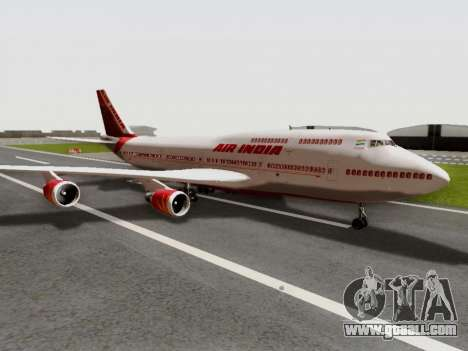 Boeing 747 Air India for GTA San Andreas back left view