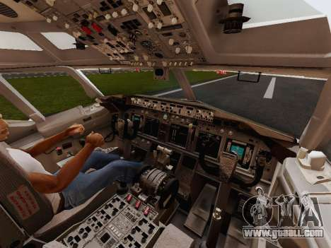 Boeing 737-800 Jet2 for GTA San Andreas inner view
