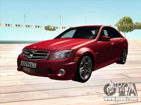Mercedes-Benz C63 AMG HQLM for GTA San Andreas
