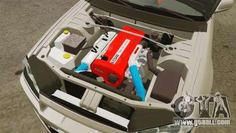 Nissan Skyline GT-R R34 V-Spec II for GTA 4 inner view