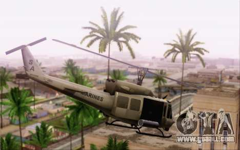 Bell UH-1N Twin Huey for GTA San Andreas left view