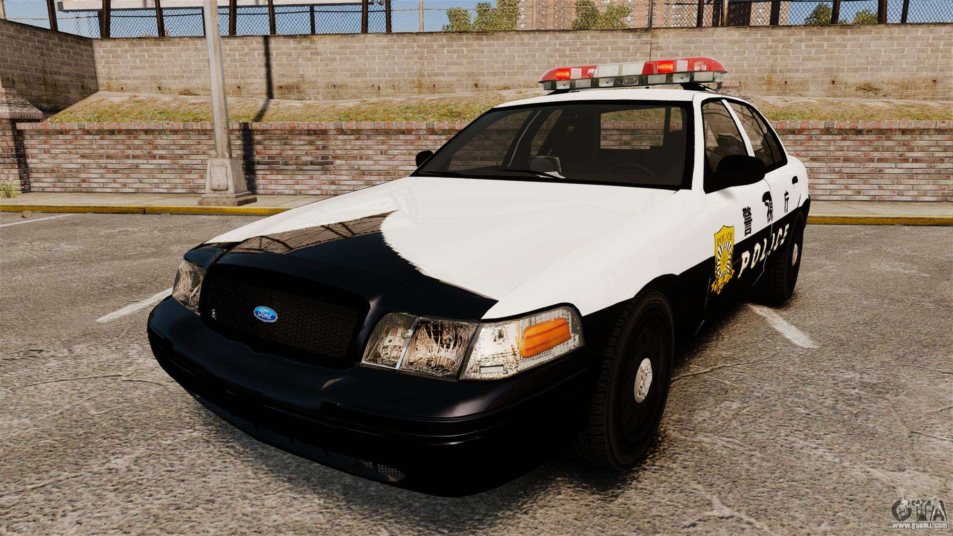 ford crown victoria japanese police  els  for gta 4