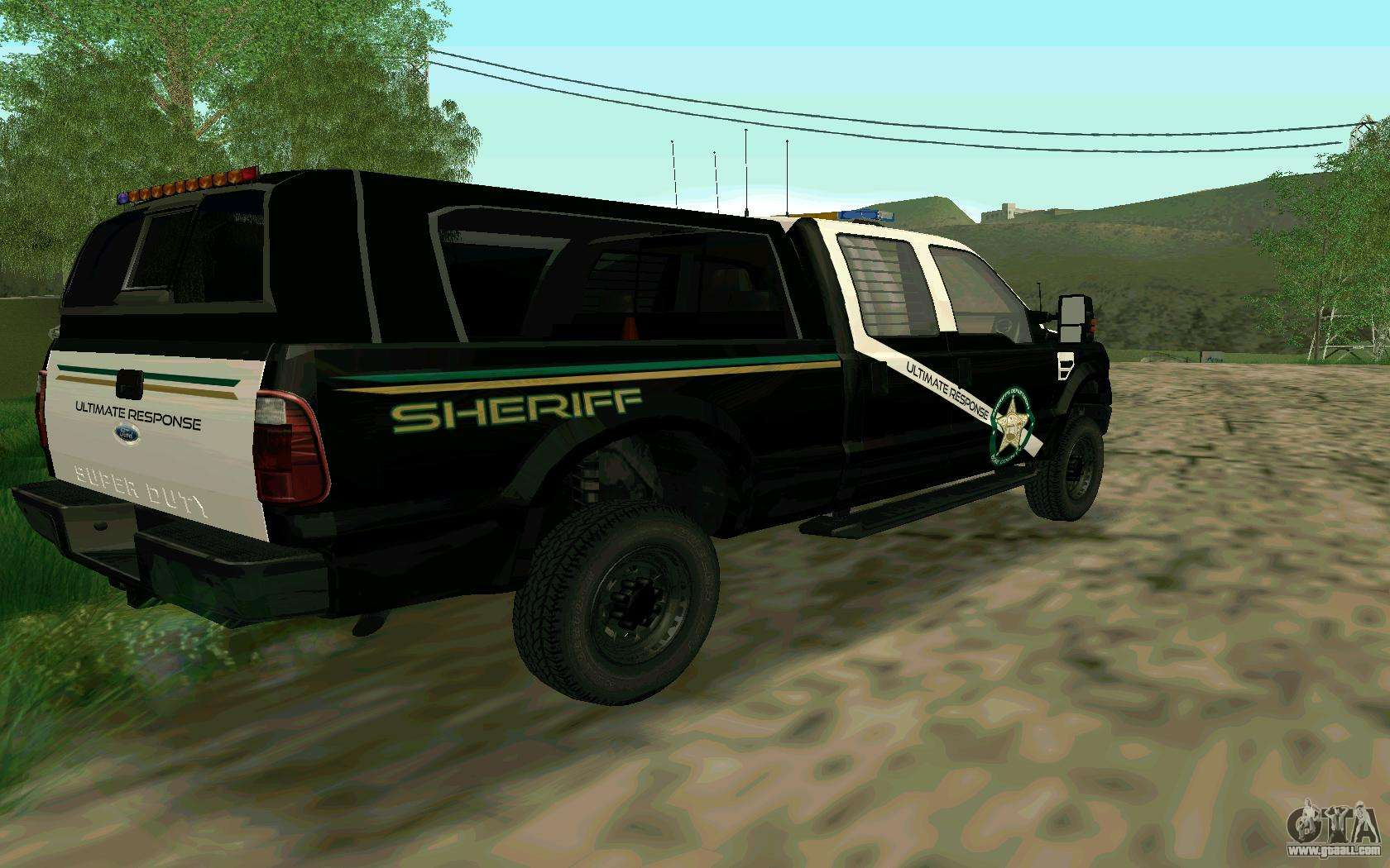 Ford f 250 bone county ultimate response for gta san andreas right view