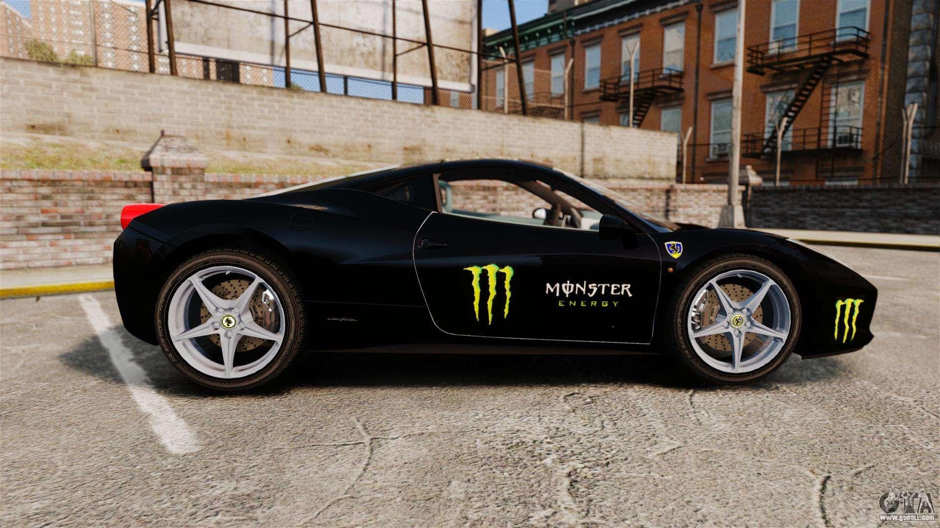 monster energy ferrari 458 - photo #13