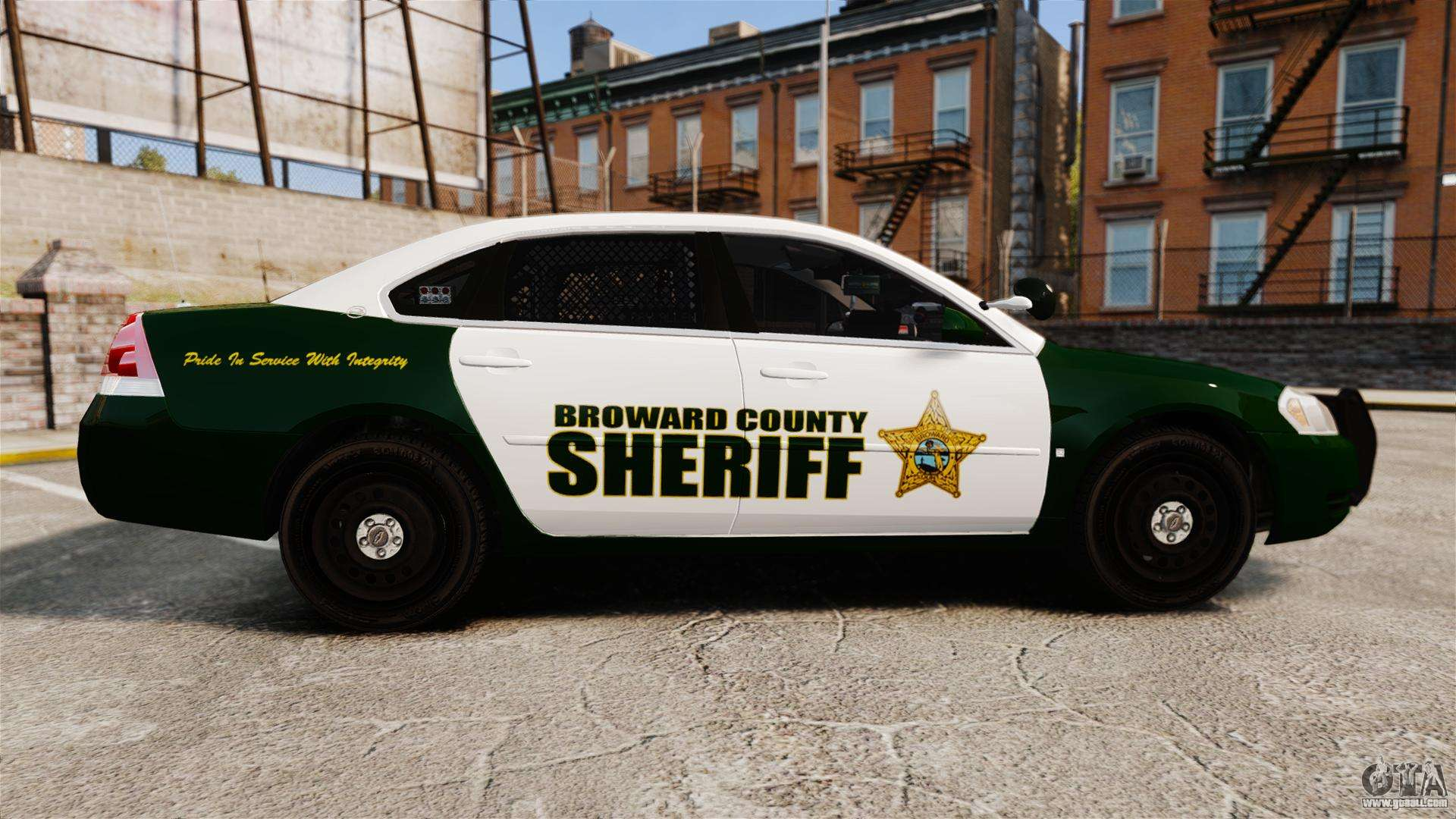 Chevrolet impala 2010 broward sheriff els for gta 4 left view