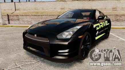 Nissan GT-R Black Edition 2012 Drive for GTA 4