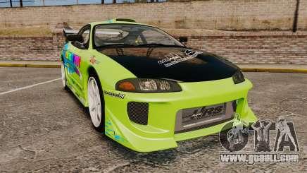 Mitsubishi Ecplise GS 1995 Racing Style for GTA 4
