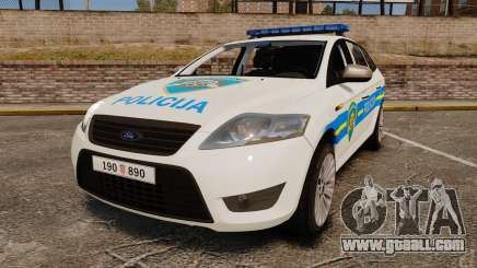 Ford Mondeo Croatian Police [ELS] for GTA 4