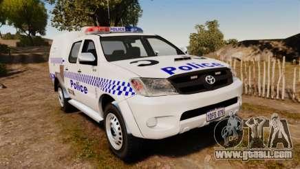 Toyota Hilux Police Western Australia for GTA 4