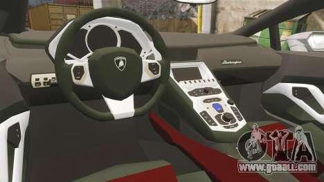 Lamborghini Huracan Hungarian Police [ELS] for GTA 4 inner view