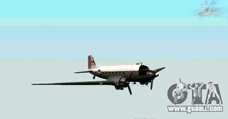 C-47 Dakota USAF for GTA San Andreas left view