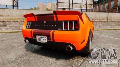 GTA V Vapid Dominator wheels v2 for GTA 4 back left view