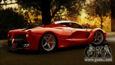 Ferrari LaFerrari 2014 for GTA San Andreas left view