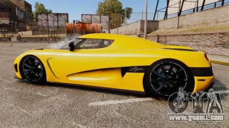 Koenigsegg Agera TE [EPM] for GTA 4 left view