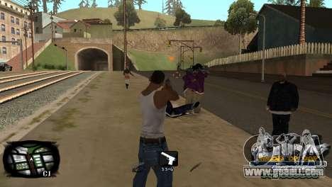 C-HUD Kings of Rap for GTA San Andreas third screenshot