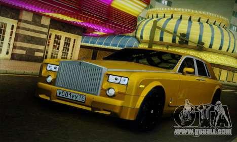 Rolls-Royce Phantom for GTA San Andreas side view