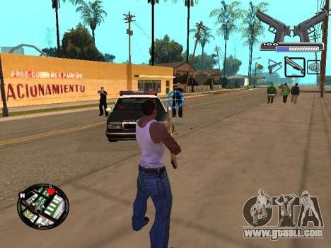 С-HUD by MoLoT for GTA San Andreas third screenshot