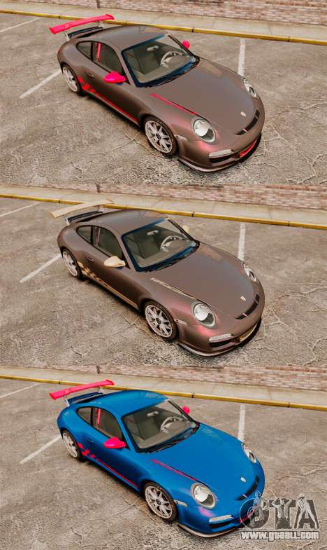Porsche 997 Carrera GT3 RS for GTA 4 inner view