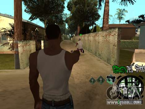 C-HUD Groove Street for GTA San Andreas fifth screenshot