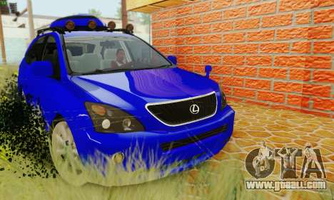 Lexus RX400h 2010 for GTA San Andreas right view