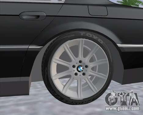 BMW 7-series E38 for GTA San Andreas back left view