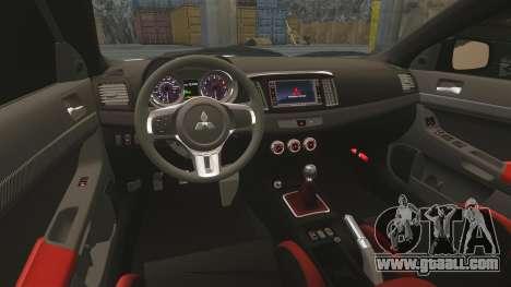 Mitsubishi Lancer Evolution X FQ400 (Cor Rims) for GTA 4 upper view