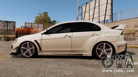 Mitsubishi Lancer Evolution X FQ400 (Cor Rims) for GTA 4 left view