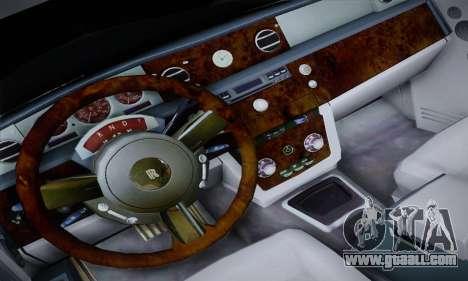 Rolls-Royce Phantom for GTA San Andreas inner view