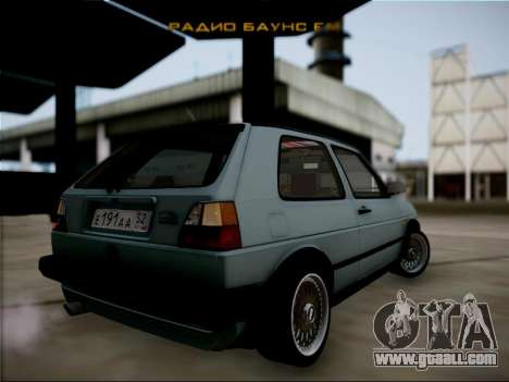 Volkswagen Golf for GTA San Andreas back left view