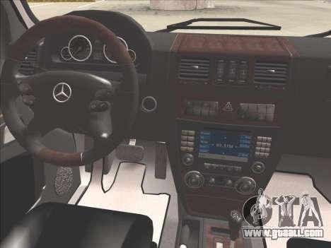 Mercedes-Benz G500 for GTA San Andreas interior