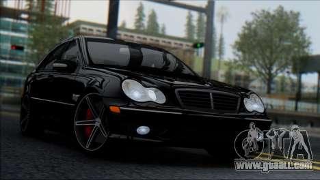 Mercedes-Benz C32 Vossen for GTA San Andreas back left view