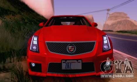 Cadillac CTS-V Sedan 2009-2014 for GTA San Andreas wheels