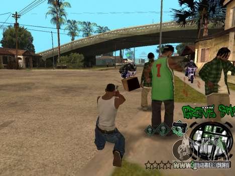 C-HUD Groove Street for GTA San Andreas ninth screenshot