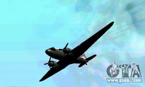 C-47 Dakota USAF for GTA San Andreas inner view